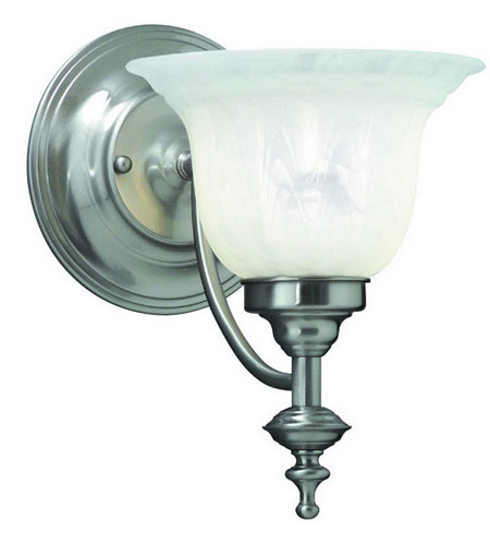 Dolan Designs 667-09 Richland 1 Light 7 inch Satin Nickel Wall Sconce Wall Light in Alabaster photo