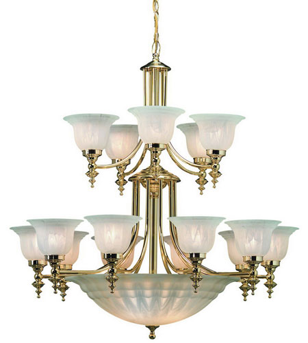 Dolan Designs Richland 18 Light Chandelier in Polished Brass 668-14 photo