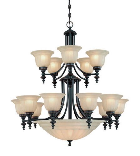 Dolan Designs 668-78 Richland 18 Light 36 inch Bolivian Chandelier Ceiling Light in Carmelized photo