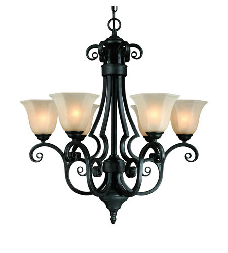 Dolan Designs 775-34 Winston 6 Light 26 inch Olde World Iron Chandelier Ceiling Light photo