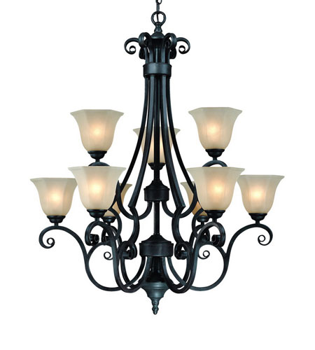 Dolan Designs Winston 9 Light Chandelier in Olde World Iron 777-34 photo