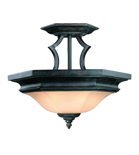 Dolan Designs Winston 2 Light Semi-Flush Mount in Olde World Iron 778-34 photo