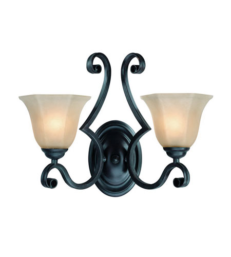 Dolan Designs Winston 2 Light Wall Sconce in Olde World Iron 779-34 photo