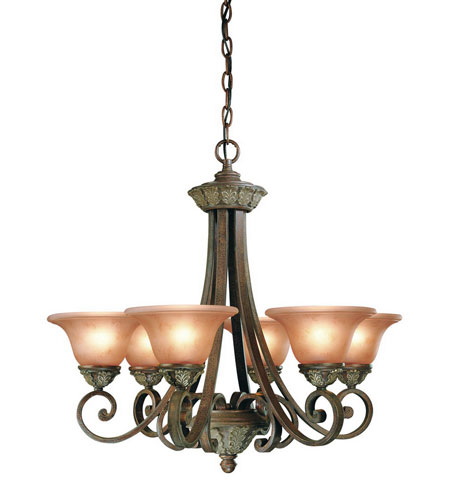 Dolan Designs Windsor 6 Light Chandelier in Sante Fe 820-38 photo