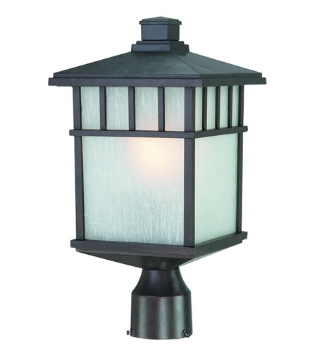 Dolan Designs 9116-34 Barton 1 Light 17 inch Olde World Iron Exterior Post Lantern in White Linen photo