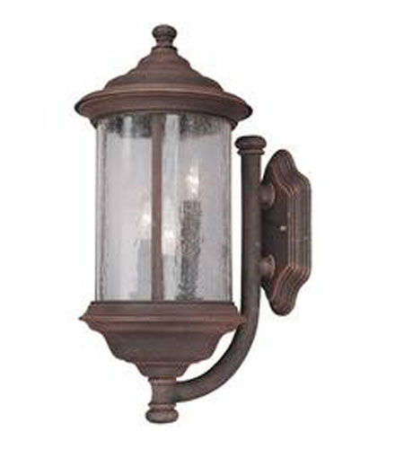 Dolan Designs Walnut Grove 3 Light Exterior Wall Lantern in Rustique 917-53 photo