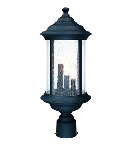 Dolan Designs Walnut Grove 3 Light Exterior Post Lantern in Black 918-50 photo