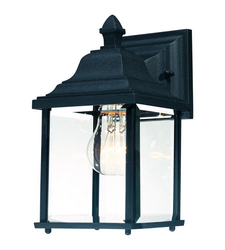 Dolan Designs Charleston 1 Light Exterior Wall Lantern in Black 931-50 photo