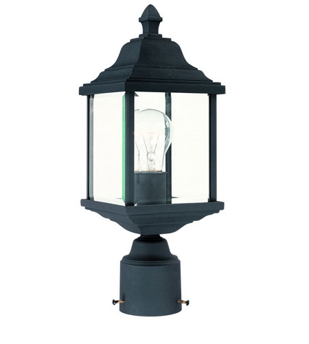 Dolan Designs Charleston 1 Light Exterior Post Lantern in Black 932-50 photo