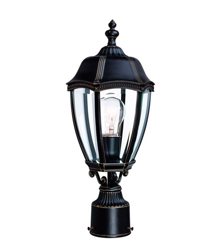 Dolan Designs 952-20 Roseville 1 Light 18 inch Antique Bronze Exterior Post Lantern photo