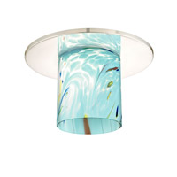 Dolan Designs 10536-26-GL1021 Recesso Chrome Recessed Decorative Trim in Turquoise Blue Art Glass