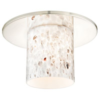 Dolan Designs 10536-26-GL1025 Hurricane Chrome 11 inch Recessed Light Shade in Off-White Art Glass