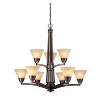 Dolan Designs Covina 9 Light Chandelier in Classic Bronze 1062-206 photo thumbnail
