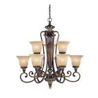 Dolan Designs Greta 9 Light Chandelier in Verona 1072-162 photo thumbnail