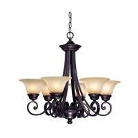 Brittany 6 Light 27 inch Deep Bronze Chandelier Ceiling Light