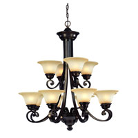 Brittany 12 Light 33 inch Deep Bronze Chandelier Ceiling Light