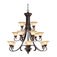 Brittany 15 Light 46 inch Deep Bronze Chandelier Ceiling Light