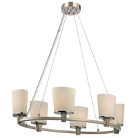 Dolan Designs Ellipse 6 Light Chandelier in Satin Nickel 1090-09 photo thumbnail