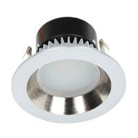 Recesso LED Satin Nickel and White LED Retrofit Module