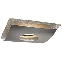 Recesso Ebony Recessed Decorative Trim in Hammered Chrome