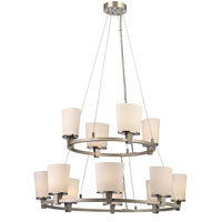 Dolan Designs Ellipse 12 Light Chandelier in Satin Nickel 1092-09