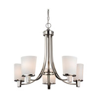 Ellipse II 5 Light 25 inch Satin Nickel Chandelier Ceiling Light