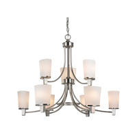 Ellipse II 9 Light 33 inch Satin Nickel Chandelier Ceiling Light