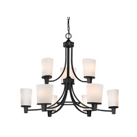 Dolan Designs Ellipse II 9 Light Chandelier in Bolivian 1099-78