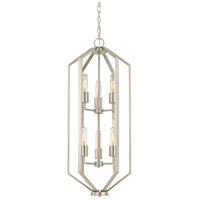 Hexagon 6 Light 14 inch Satin Nickel Chandelier Ceiling Light