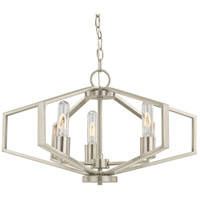 Hexagon 3 Light 22 inch Satin Nickel Chandelier Ceiling Light