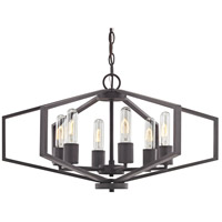 Dolan Designs 1145-78 Hexagon 6 Light 26 inch Bolivian Bronze Chandelier Ceiling Light