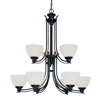 Hyde Park 9 Light 35 inch Antique Bronze Chandelier Ceiling Light