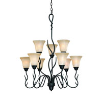 Dolan Designs Laurelwood 9 Light Chandelier in Olde World Iron 1222-34