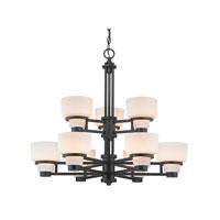 Dolan Designs 1252-46 Saxon 9 Light 30 inch Warm Bronze Chandelier Ceiling Light