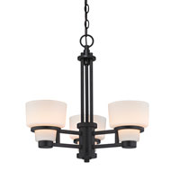 Saxon 3 Light 20 inch Warm Bronze Chandelier Ceiling Light