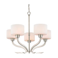 Kalina 5 Light 26 inch Satin Nickel Chandelier Ceiling Light