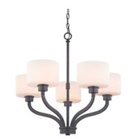 Kalina 5 Light 26 inch Warm Bronze Chandelier Ceiling Light