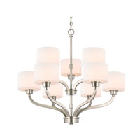 Dolan Designs Kalina 9 Light Chandelier in Satin Nickel 1262-09