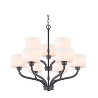 Kalina 9 Light 30 inch Warm Bronze Chandelier Ceiling Light