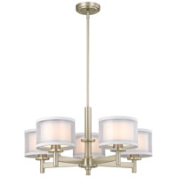 Signature 5 Light 26 inch Satin Nickel Chandelier Ceiling Light