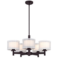 Dolan Designs 1270-30 Double Organza 5 Light 26 inch Royal Bronze Chandelier Ceiling Light