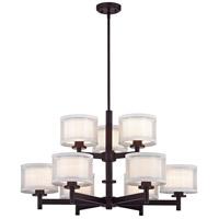 Dolan Designs 1272-30 Double Organza 9 Light 33 inch Royal Bronze Chandelier Ceiling Light