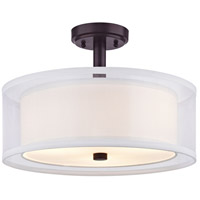 Dolan Designs 1275-30 Double Organza 3 Light 16 inch Royal Bronze Semi-Flush Mount Ceiling Light