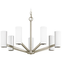 Radiance LED 25 inch Satin Nickel Chandelier Ceiling Light, Single Tier