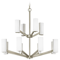 Radiance LED 30 inch Satin Nickel Chandelier Ceiling Light, Two Tier