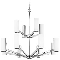 Radiance LED 30 inch Chrome Chandelier Ceiling Light, Two Tier