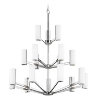 Radiance LED 34 inch Chrome Chandelier Ceiling Light, Three Tier