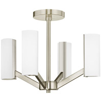 Radiance LED 17 inch Satin Nickel Semi Flush Mount Ceiling Light