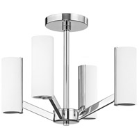 Radiance LED 17 inch Chrome Semi Flush Mount Ceiling Light