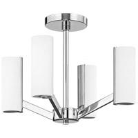 Dolan Designs 1295-26 Radiance LED 17 inch Chrome Semi Flush Mount Ceiling Light